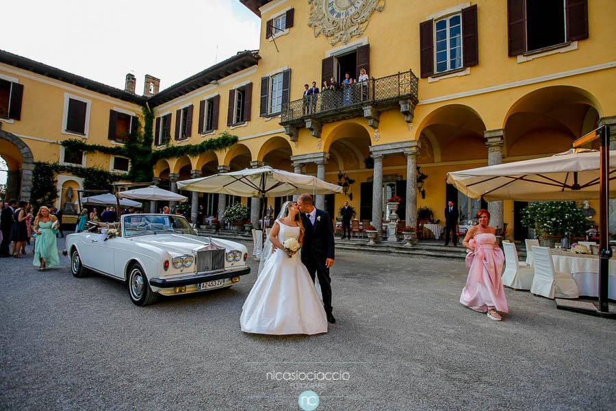 arrivo sposi a Villa Orsini Colonna